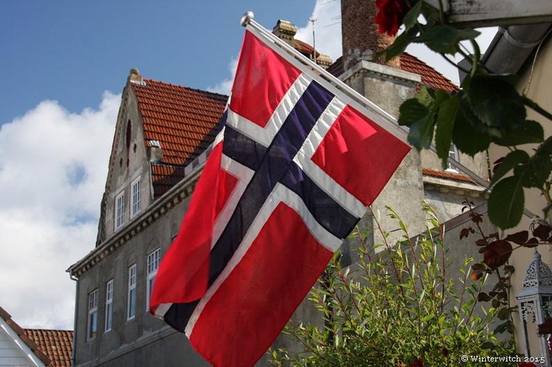 Norwegenfahne in Stavanger