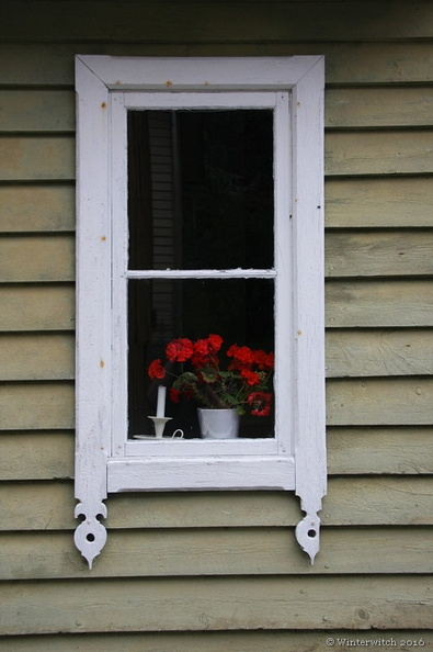 Vintage window in Norway